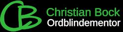 Ordblindementor Christian Bock Logo